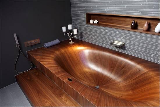деревянная ванна